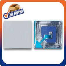 2000 papel las etiquetas de seguridad de 1,5 x1,5 pulgadas Rf 8.2 Mhz Blanco EAS Checkpoint Compatib