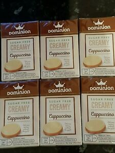 Dominion Sugar Free Sweets Creamy Cappuccino Flavour, 44g Sealed. X6 packs NEW