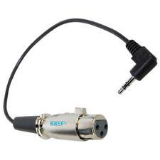 HQRP Cable para MXL 770 micrófono condensador; cable 3.5mm a XLR hembra 3-pin