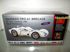 1:18 CMC M-125 Maserati TIPO 61 Birdcage GP Cuba Havanna 1960 Stirling Moss
