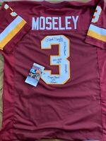 Mark Moseley Autographed Maroon Pro Style Jersey W/multiple Inscr - JSA W Auth