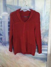 Adorable Red Liz Claiborne Women's Long Sleeved Heavy Cowl Neck Sweater Sz. L