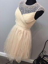 ASOS Little Mistress Ruched Bodice Skater Dress Pleated Tulle Skirt £75 (AS31/14