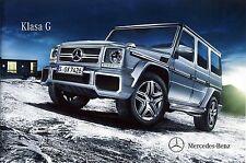 Mercedes G Class W463 09 / 2014 catalogue brochure Poland
