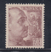 ESPAÑA (1949) NUEVO SIN FIJASELLOS MNH - EDIFIL 1048 (25 cts) FRANCO - LOTE 3