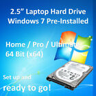 """2.5"""" Laptop SATA Hard Drive HDD Windows 7 Pre-Installed + Libre Office + More"""