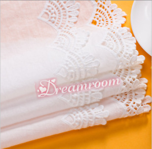 1yd Embroidery Floral Lace Trim Ribbon Cotton Fabric Wedding Sewing DIY BF317