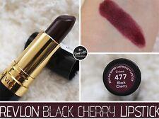 REVLON Super Lustrous Lipstick Creme 477 BLACK CHERRY - SEALED - FREE PP