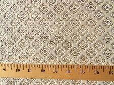 Authentic 50s 60s VINTAGE Fabric Brocade Tone on Tone Matelasse CREAM Medallion