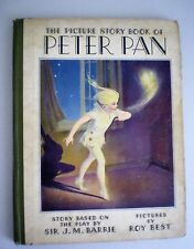 Vintage The Picture Story Book Of Peter Pan Copyright 1931 J. M. Barrie Whitman