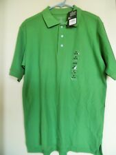 New NWT North Crest Classic Mens Size M Short Sleeve Polo Shirt Cotton Top
