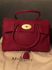 Mulberry Bayswater Scarlet Small Grain AUTHENTIC IMMACULATE