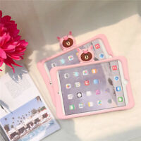 For Apple iPad All Model Hybrid Soft Silicone Rubber Shockproof Stand Cover Case