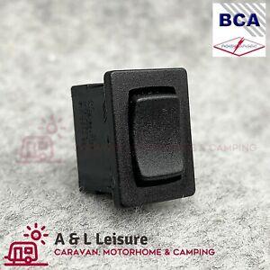 Small Mini Black Centre Off Rocker Switch Rectangle SPST 12 - 250v  - 320015