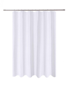 N&Y HOME Fabric Shower Curtain Liner White Hotel Quality, Washable, Water Repell
