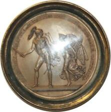 O5482 RARE Médaille uniface Gatteaux GP Gravure Médailles 1809 Baron Desnoyers