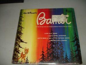 Walt Disney's Bambi - Soundtrack (LP, 1963) Tested, In Shrink, EX/EX Disneyland