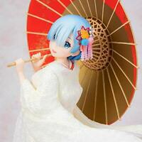 Re Zero REM Kimono white dress 1/7 Figure 240mm F:NEX Anime from JAPAN 2019