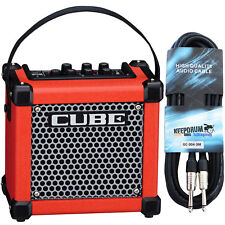Roland Micro Cube GX Guitar Amplifier Red + Cable