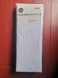 M&S Cotton Rich Percale Flat Sheet - White - King Size