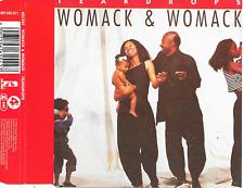 WOMACK & WOMACK - Teardrops CD SINGLE 4TR Europe 1988 (Island Records)