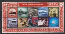 NEW ZEALAND 2001 STAMP SHEET MNH MOVING THE MAIL IN THE 20TH CENT SG 2376-2384