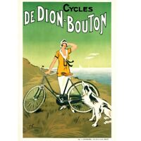 """Cycles De Dion-Bouton Vintage Bicycle art poster Cycling Poster 24"""" x 36"""""""
