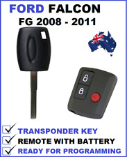 3B FORD FALCON FG UTE REMOTE FOB + TRANSPONDER CAR KEY 2008 2009 2010 2011