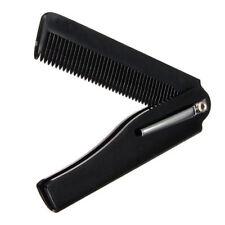 Peigne Pliable de Poche Noir pour cheveux barbe moustache avec clip hair comb