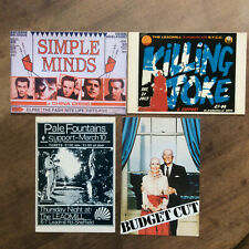 New Wave * Lot de 4 x Postcards / Cartes Postales * Killing Joke + Simple Minds