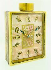 STUNNING Vintage JUVENIA NUMBER 7 Perfume Bottle VANITY ArT DEcO CLOCK MOP DIAL