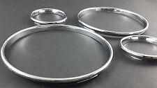 E30 Chrome Cluster gauge Dashboard rings speedo Dial Trim Bezel BMW M3 3 Series
