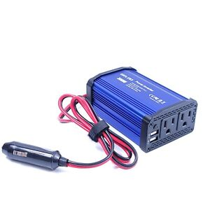 300W Power Inverter DC 12V to 110V AC Car Charger Converter with 4.8A Dual USB P