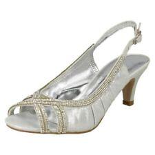 38 Scarpe da donna aperte in punta di argento