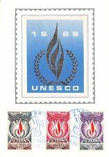 France (UNESCO ) 1969  carte premier jour
