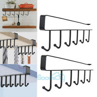 2x Kitchen Under Cabinet Towel Cup Paper Hanger Rack Organizer Storage Holder