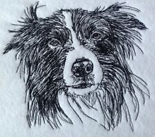 Completed Embroidery Border Collie Dog 2