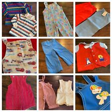 Vtg Lot Clothes Boys 18 24 Mo 2T 70s 80s 90s Health Tex Overalls A8 Nwt Romper