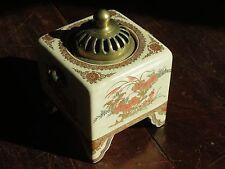 BRULE-PARFUM EN PORCELAINE  SATSUMA JAPON JAPAN ( INCENSE BURNER ) SIGNE