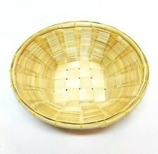 "1/3/6/12 PCS 6"" Round Bamboo Gift Basket Tray Thai Wickerwork Handcraft Lot"