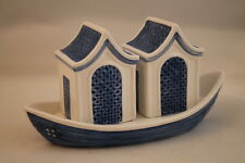 Willow Blue Collectibles by Johnson Brothers Salt & Pepper Shakers House Boat