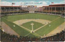 Brigg's Stadium Detroit Tigers postcard baseball stadium Michigan