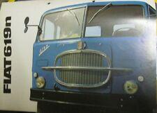 *   Fiat  619 n Lastwagen  Prospekt  60er Jahre  *
