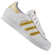 Adidas Originals Superstar Jeunesse Blanc/or Baskets Cuir 4.5 UK / 37.3 eu