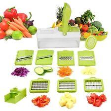 Vegetable Cutter Mandoline Slicer Food Tray Grater Chopper Veggie Spiralizer