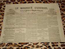 LE MONITEUR UNIVERSEL, journal officiel de l'empire français, n° 191, 10/07/1858