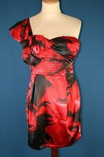 Sleek, Red 1 shoulder Dress, Size 10 1, NWT