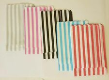 """Candy Stripe Paper Bags 100 (5""""x7"""" ) MIX OF 5 COLOURS  or """"A Mix of YOUR CHOICE"""""""