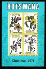 Botswana 1974 Christmas Flowers MS SC 131a MNH Mint/Never Hinged