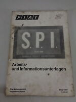 Schulungsunterlage Fiat Single Point Injection S. S. P. I. Stand 03/1987